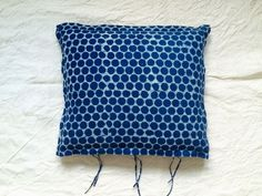 Pillowcase,Indigo dots by evalunda