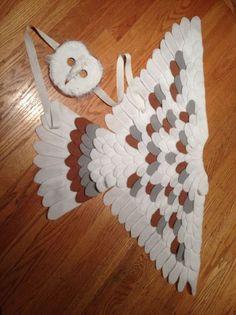 Barn owl costume eagle owls of paradise birds Owl Costume Kids, Owl Halloween Costumes, Halloween Crafts, Owl Costumes, Hedwig Costume, Sewing Crafts, Sewing Projects, Bird Masks, Owl Mask
