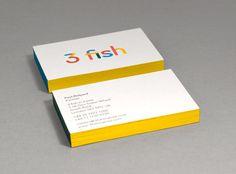 3 fish brand identity / 3 fish business cards — Designspiration