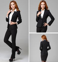 Top Quality Business Office Suits for Women  Work Wear Fashion Women Clothing Coat +Pants One Set in Stock  2013 Free Shipping $61.80