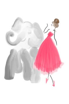 Richard Avedon's Dovima With Elephants: Illustrated #designsbybc #harpersbaazar