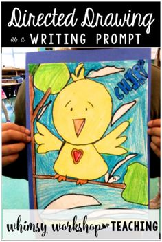 Easy directed drawing tutorial ideas to use as writing prompts for kindergarten and grade one (free set included)