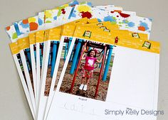 Create a PersonalYearbook for pre-k/kindergarten. 2 pages per month with photos and quotes from kids.