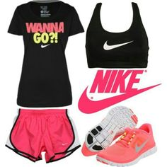 Work Out clothes. I wouldn't wear the shoes cuz nikes kill my feet