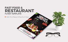 Food Flyer Template Design For Restaurant