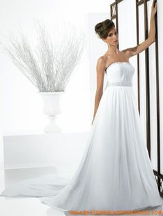 Chiffon Strapless Beaded Neckline With Ruched Bodice A Line Skirt 2010 New Wedding Dress Best Cocktail Dresses, Bodice, Neckline, New Wedding Dresses, A Line Skirts, One Shoulder Wedding Dress, Chiffon, Ideas, Fashion