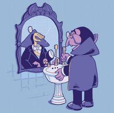 Count von Count's reflection