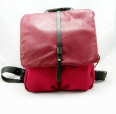 Oldy but goody! These backpacks are one of my most popular designs. This one is made from canvas and leather.