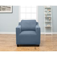 Home Fashion Designs Dawson Collection Twill Form Fit Chair Protector Slip Cover in