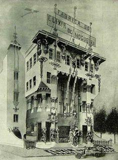 ELIXIR DE NOGUEIRA - A ostentosa fábrica do Elixir de Nogueira (1923)