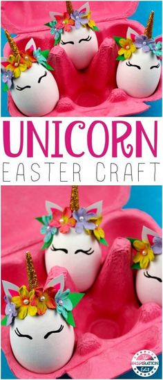 The Cutest DIY Unicorn Eggs Tutorial. When I was a child I decorated an egg which won first prize. It was a little ballerina egg and had a bun case for a tutu. Unicorn Egg, Diy Unicorn, Unicorn Crafts, Easter Projects, Easter Art, Easter Crafts For Kids, Easter Eggs, Diy Projects, Toddler Crafts