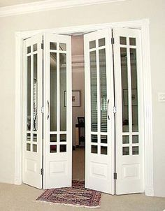 Porta sanfonada de madeira   Construir seu lar – tire duvidas ao ...