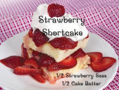 Mix your Strawberry Saas and Cake Batter Sprinkles to create a candle that smells just as AMAZING as this Strawberry Shortcake.