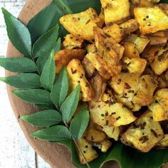 Crispy stir fried plantain - South Indian style - a great accompaniment to dal and rice