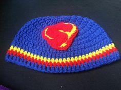 Crochet Superman Hat by LEACreations on Etsy, $10.00