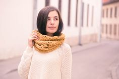 Crocheted Scarves – READY TO SHIP! Crochet infinity scarf snood wool – a unique product by WarmStories on DaWanda