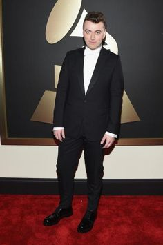 Grammys 2015 Red Carpet Arrivals - Sam Smith from #InStyle