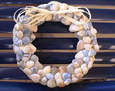 Beach Decor Shell Wreath Nautical Decor by beachgrasscottage