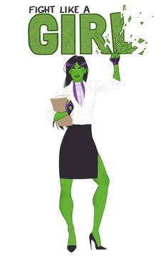she-hulk // fight like a girl Art Print
