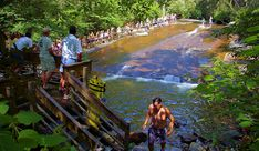 Sliding Rock, North Carolina, Travel Guide Visit Fort Bragg Leisure Travel Services for information. http://www.fortbraggmwr.com/recreation/leisure-travel-services/
