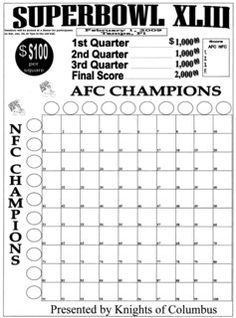 100 square football board superbowl squares more neat stuff square ...