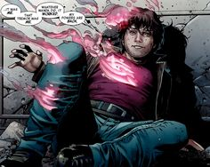 Julio Richter, aka Rictor, of X-Factor Investigations, regains his powers (art by Jim Chung; created by Louise Simonson)
