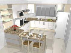 Estilo de cozinha planejada (Foto: Reprodução/Decorando Casas)