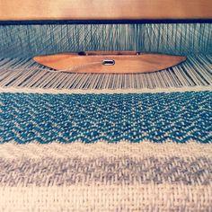 weaving a wool blanket