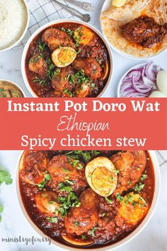 Love Spicy Ethiopian Cuisine? Here is an EASY recipe for homemade Doro Wat, spicy chicken stew that is sure to fire up your taste buds. #ministryofcurry #ethiopianrecipes Indian Food Recipes, Vegetarian Recipes, Healthy Recipes, Healthy Eats, Doro Wat, Ethiopian Cuisine, Spicy Stew, Spicy Chicken Recipes, Biryani Recipe