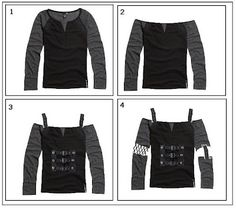 Gothically yours....: Remaking your clothes: Goth DIY