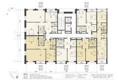 Residential Building Plan, Residential Complex, Apartment Floor Plans, House Floor Plans, Model House Plan, Rest House, Family House Plans, High Rise Building, Architecture Design