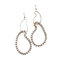 Edina Kiss Gold Pyrite Squiggle Earrings          20k Rose Gold Filled  Pyrite      Price: $158.00