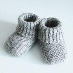 TUSINDFRYD: Strikkede Baby Futter - Gratis Strikkeopskrift - NY VERSION - FREE PATTERN