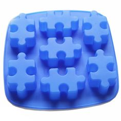 Yunko 7 Cavity Jigsaw Puzzle Silicone Bakewave Cake Pan Ice Cube Cookie Mold Chocolate Dessert Mold *** Hurry! Check out this great item : bakeware