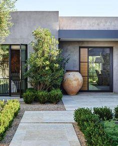 Modern Backyard, Modern Landscaping, Front Yard Landscaping, Backyard Patio, Landscaping Ideas, Patio Ideas, Backyard Ideas, Garden Modern, Garden Ideas