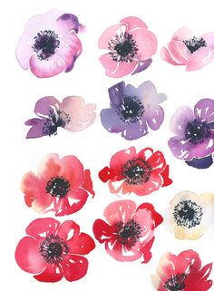 New Illustration Art Painting Watercolor Flowers Ideas Watercolor Wallpaper, Easy Watercolor, Abstract Watercolor, Watercolour Painting, Watercolor Flowers, Painting & Drawing, Painting Flowers, Art And Illustration, Watercolor Illustration