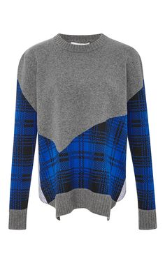 Cashmere and Wool Blend Plaid Combo Sweater by Thakoon Addition Now Available on Moda Operandi