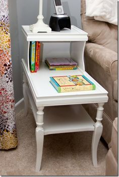 Side table DIY for baby girl's nursery