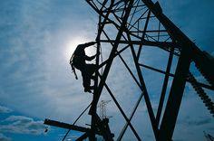 Tower Climber Silhouette