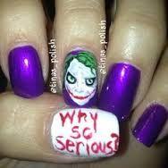 joker nail art - Google Search
