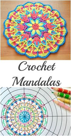 Explore Mandala Crochet + Mandala Crochet Patterns Mandala crochet patterns offer a wonderful opportunity to experiment with different stitch techniques and to explore color combinations. Come explore mandala crochet! Motif Mandala Crochet, Crochet Flower Squares, Crochet Mandala Pattern, Crochet Motifs, Crochet Stitches Patterns, Crochet Designs, Crochet Flowers, Stitch Patterns, Knitting Patterns