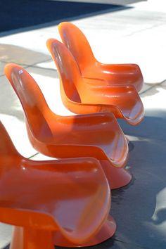 Orange. Mod. Fiberglass.