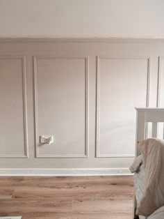 Panelling-DIY-6 Dining Room Paneling, Stair Paneling, Wall Panelling, Painted Paneling Walls, Modern Wall Paneling, Paneling Ideas, Panel Moulding, Wall Molding, Bedroom Wall