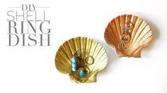 DIY Shell Ring Dish by Twinspiration: http://twinspiration.co/diy-shell-ring-dish/
