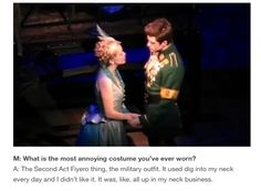 """""""….all up in my neck business"""" hahahahaha I love this man. aaron tveit is perfect wicked the musical"""