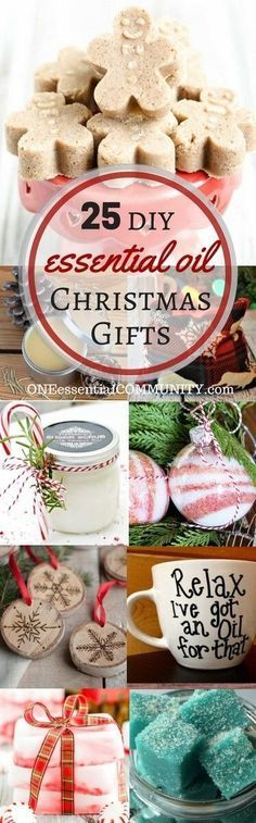 25 easy homemade essential oil gifts for Christmas- includes bath bombs soaps scrubs perfume ornaments mugs diffuser necklaces and more! Essential Oils Christmas, Homemade Essential Oils, Bath Essential Oils, Lavender Essential Oils, Lavender Oil, Craft Gifts, Diy Gifts, Diy Cadeau Noel, Diy Weihnachten