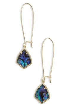 Kendra Scott Kendra Scott 'Carrine' Semiprecious Stone Drop Earrings available at #Nordstrom
