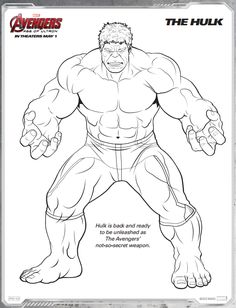 Strong Hulk Coloring Page - Free Printable Coloring Pages for Kids | 308x236
