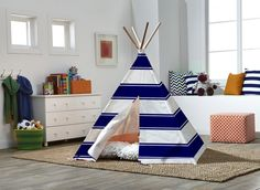 Any kid would love a home to call their own! This cotton canvas teepee is the ideal reading nook or imaginative play space – while still being a cute addition to your house. And with an easy 3-step setup, it's convenient to take down and on the go.