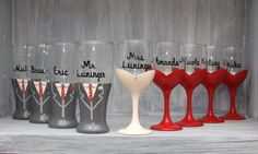 Bridal Party Wine and Pilsner Glasses